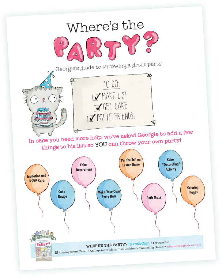 Where's the Party? Georgie's guide to throwing a great party.